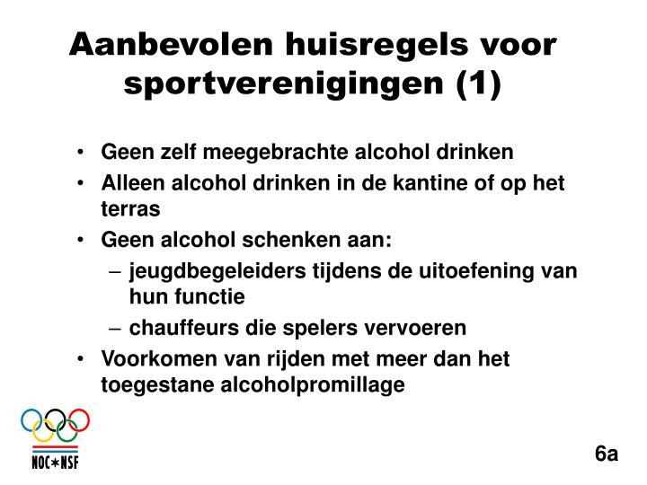 Geen zelf meegebrachte alcohol drinken