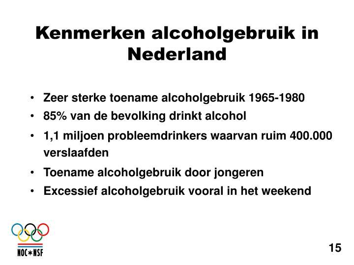 Zeer sterke toename alcoholgebruik 1965-1980