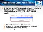 wireless work order assessment10