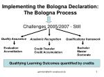 implementing the bologna declaration the bologna process