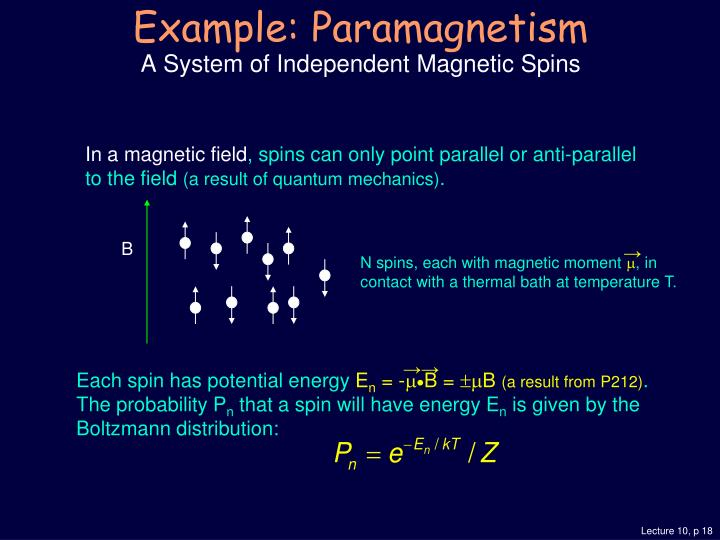 In a magnetic field