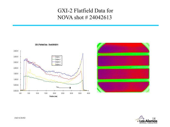 GXI-2 Flatfield Data for