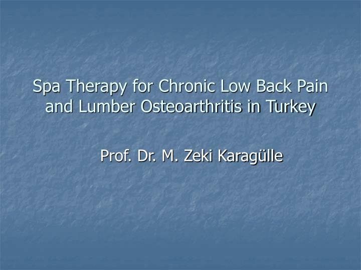 spa therapy for chronic low back pain and lumber osteoarthritis in turkey n.