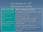 spa therapy for lbp observational studies