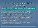 studies spa therapy for lumber oa in turkey1