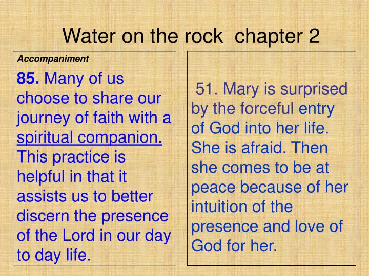 Water on the rock  chapter 2