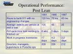 operational performance post lean