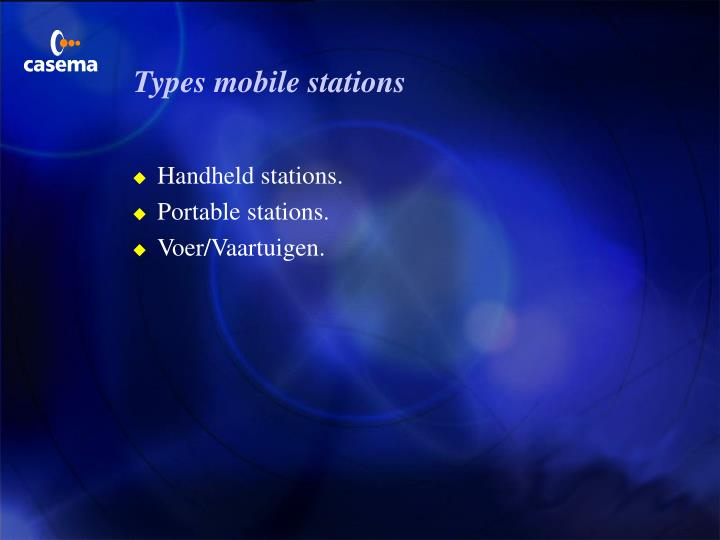 Types mobile stations