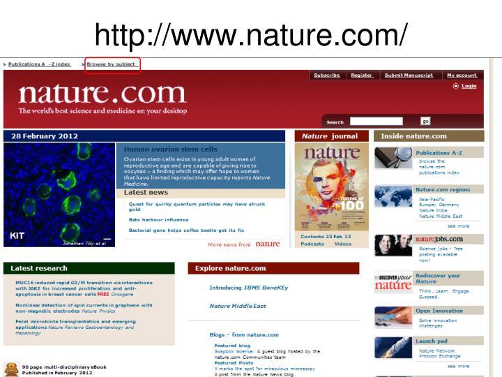http://www.nature.com/