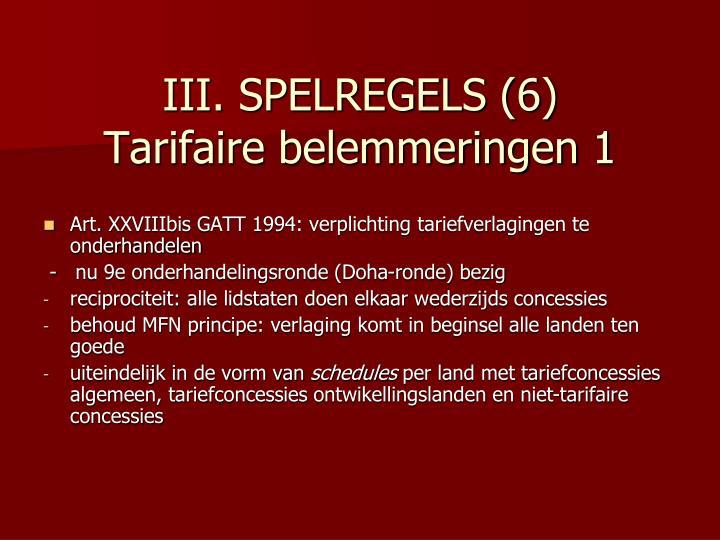 III. SPELREGELS (6)
