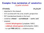 examples from metabolism of xenobiotics b polar alcohols