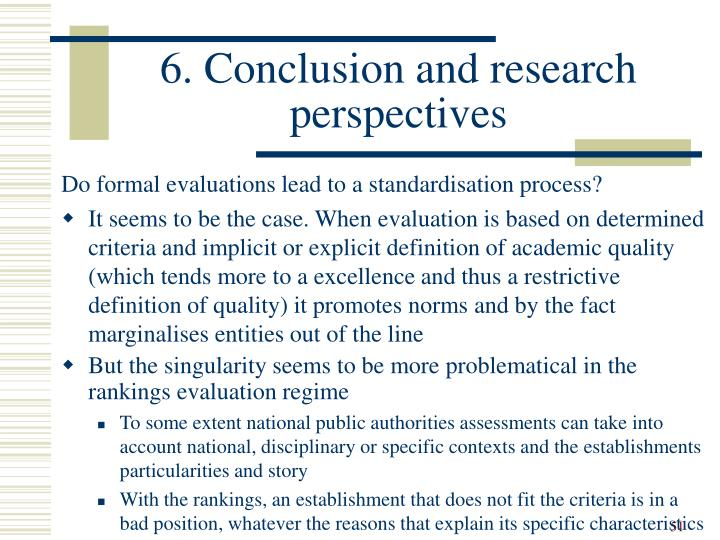 6. Conclusion and research perspectives