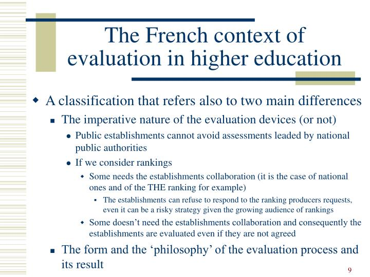 The French context of