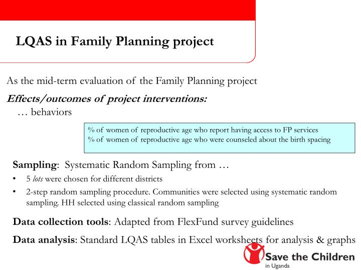 LQAS in Family Planning project