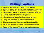 writing options
