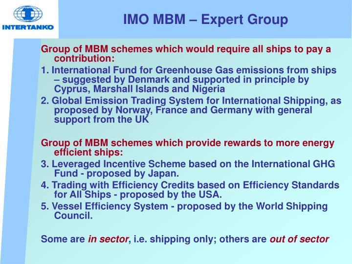 IMO MBM – Expert Group