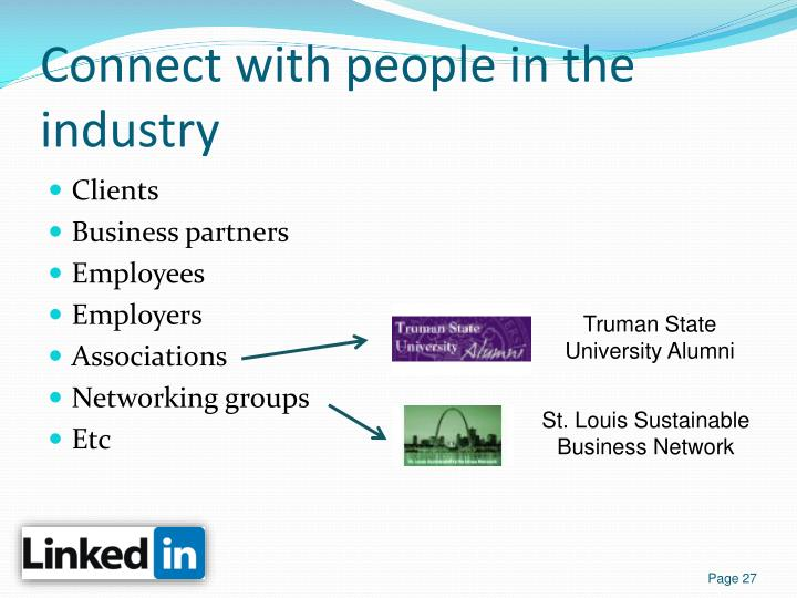 Connect with people in the industry
