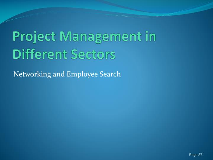 Project Management in Different Sectors