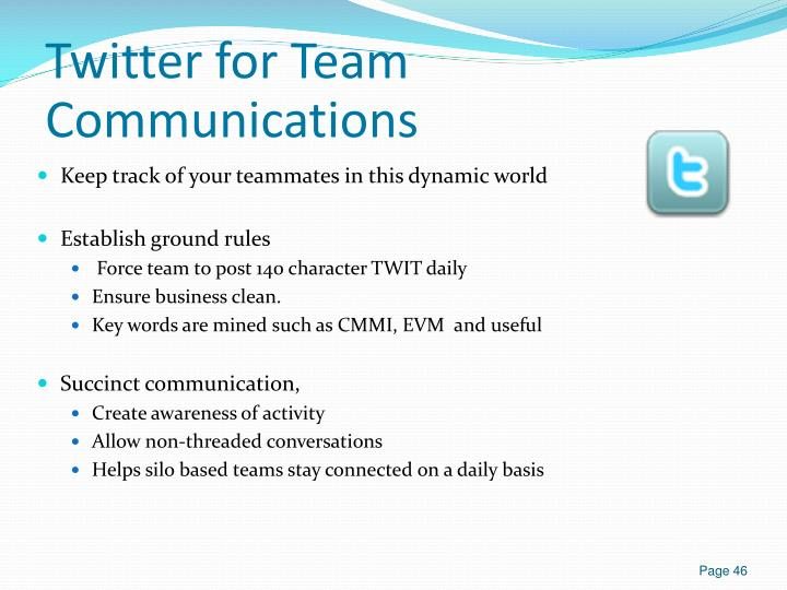Twitter for Team Communications