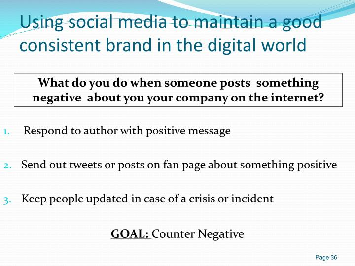 Using social media to maintain a good consistent brand in the digital world