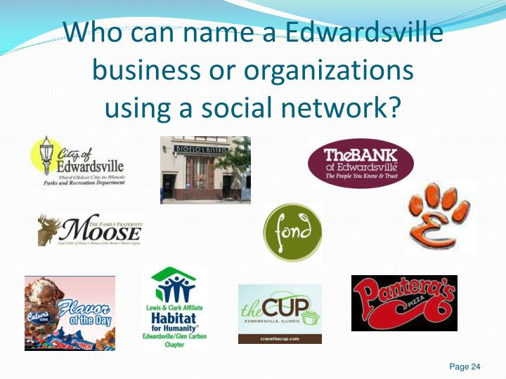 Who can name a Edwardsville