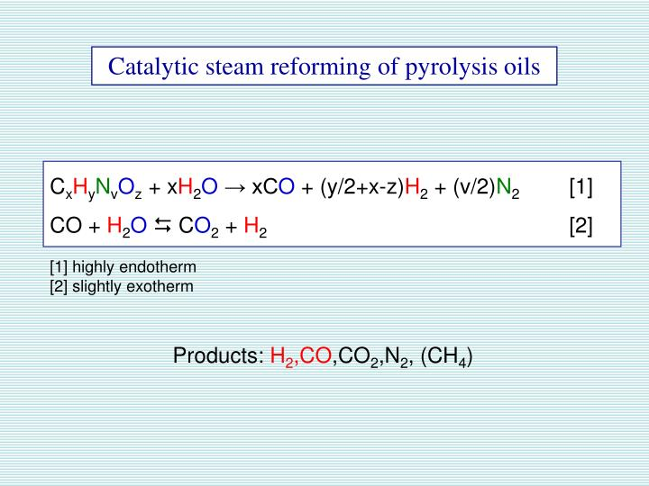 Catalytic steam reforming