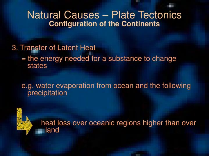 Natural Causes – Plate Tectonics