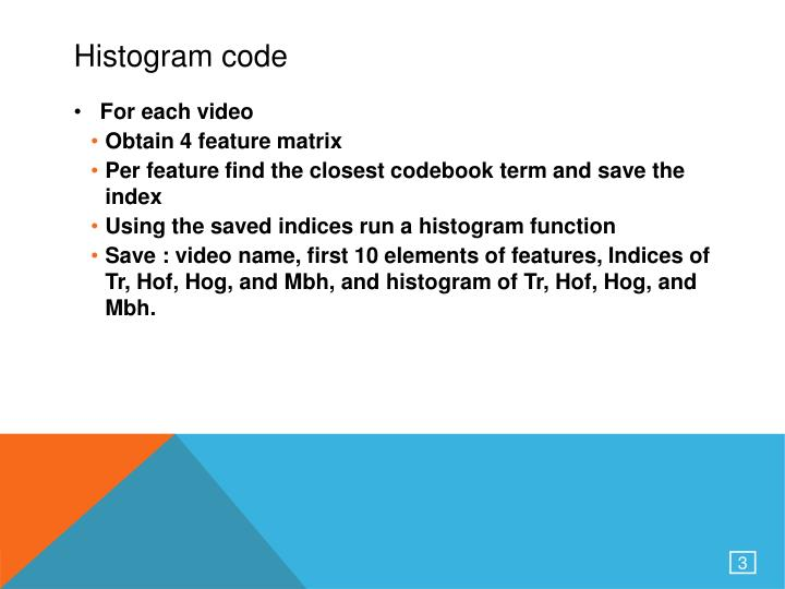 Histogram code