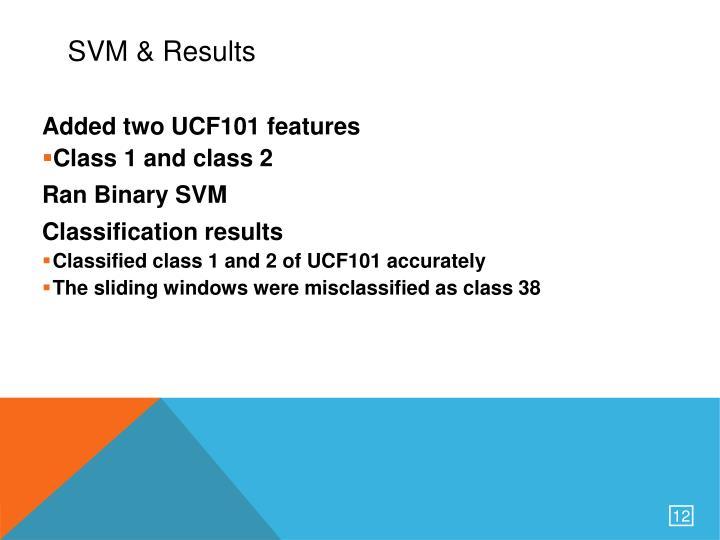 SVM & Results