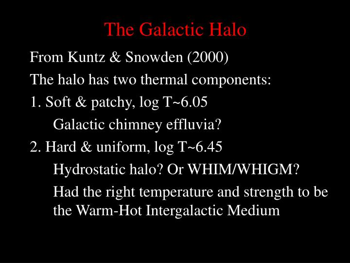 The Galactic Halo