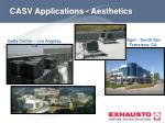 casv applications aesthetics