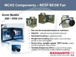 mcas components besf besb fan
