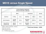 mdvs versus single speed1