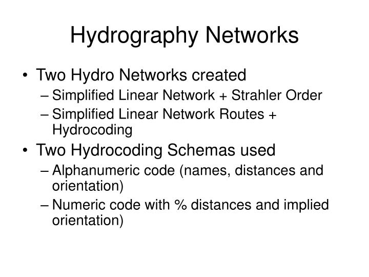 Hydrography Networks