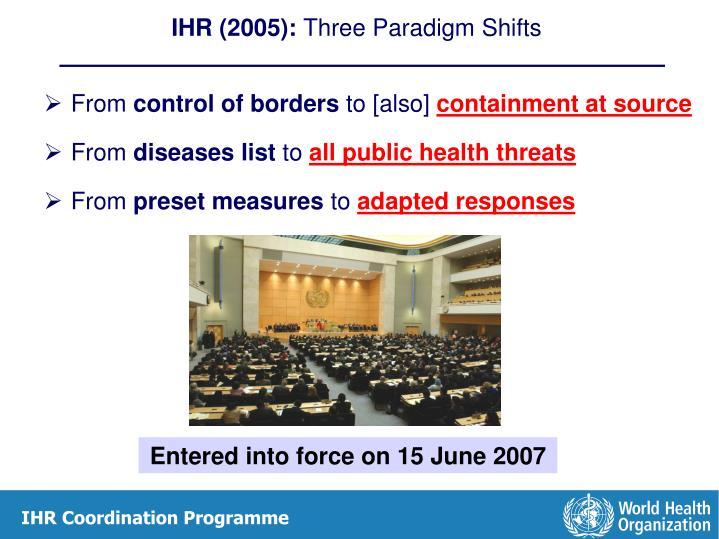IHR (2005):