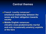 central themes