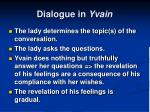 dialogue in yvain