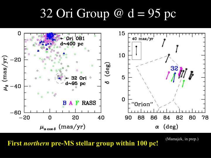 32 Ori Group @ d = 95 pc