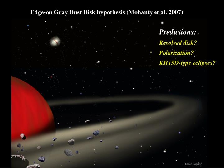 Edge-on Gray Dust Disk hypothesis (Mohanty et al. 2007)