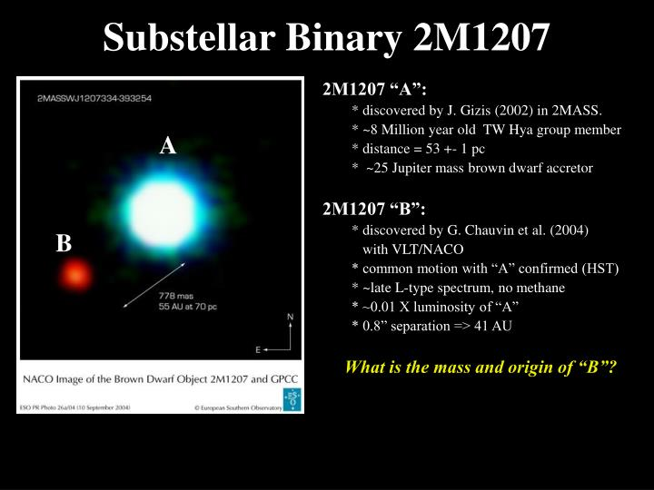 Substellar Binary 2M1207