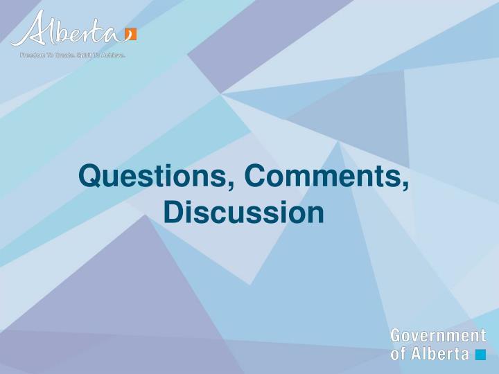 Questions, Comments, Discussion
