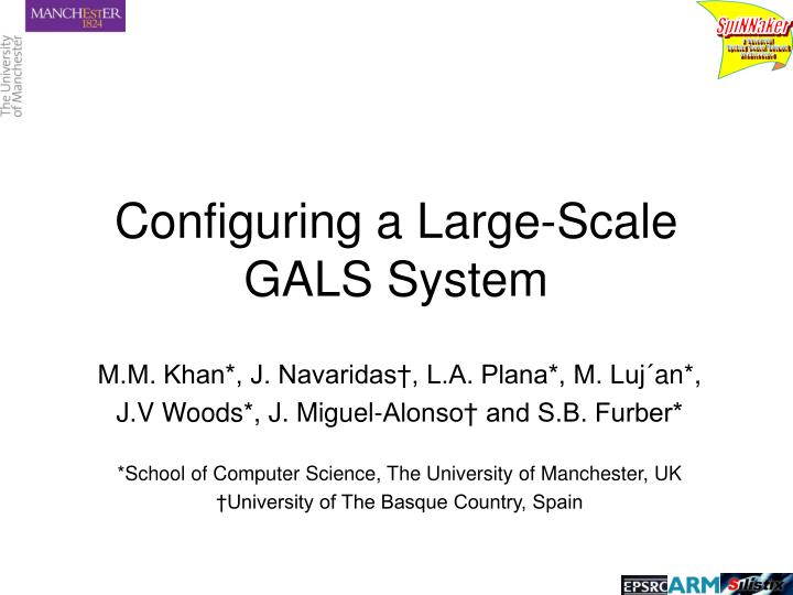 configuring a large scale gals system n.