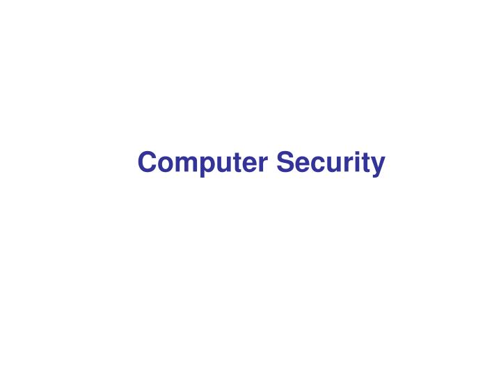 Computer security1