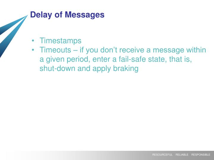 Delay of Messages