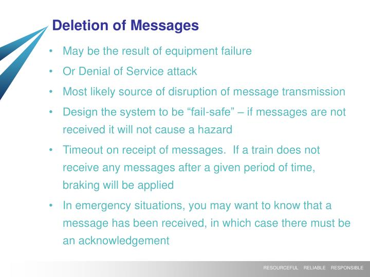 Deletion of Messages