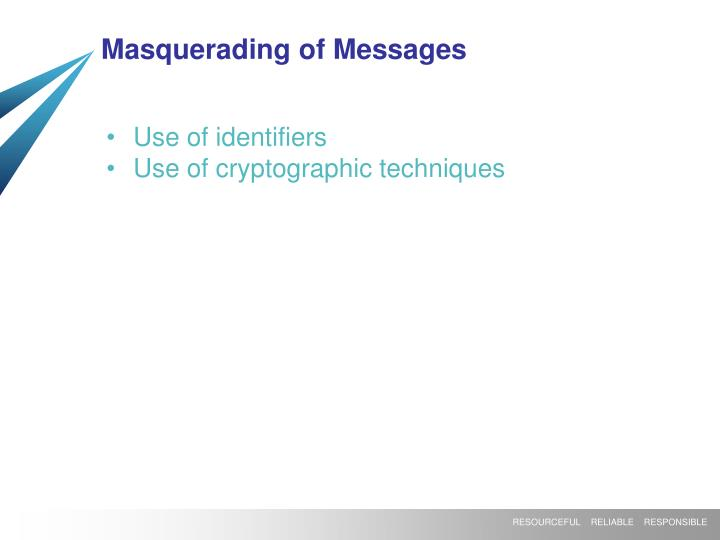 Masquerading of Messages