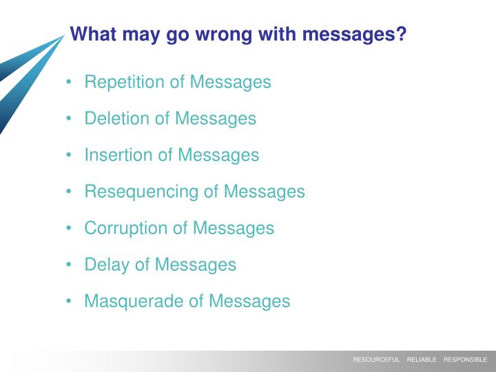 What may go wrong with messages?