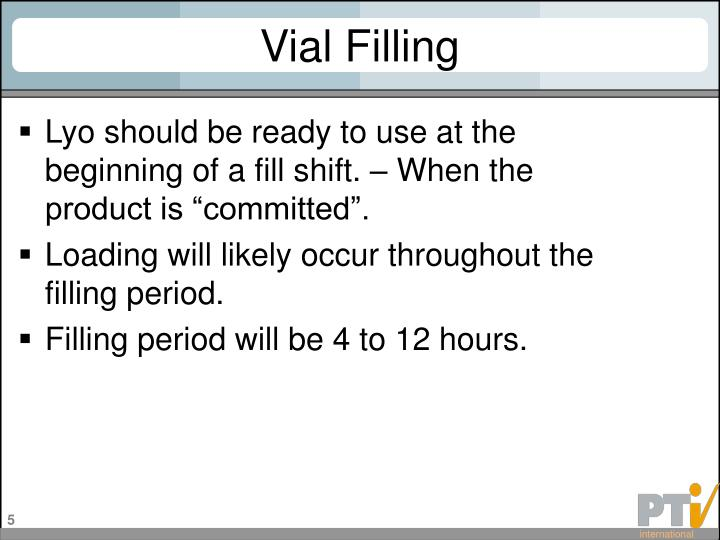 Vial Filling