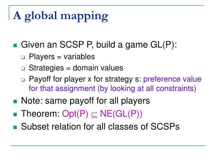 A global mapping