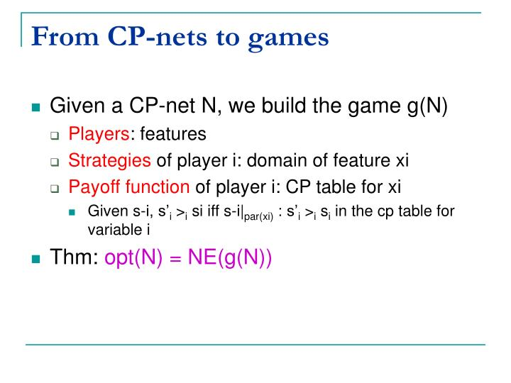 From CP-nets to games